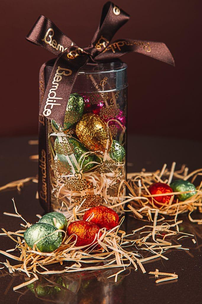 mini ovos de chocolate bendito